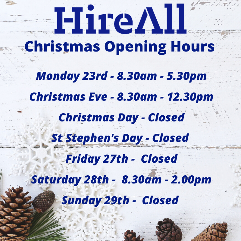 Christmas <br> Opening Hours