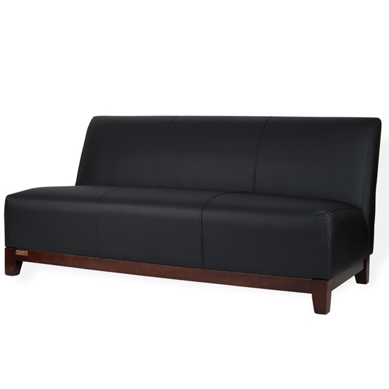 Outstanding Club 3 Seater Sofa Black Leather For Hire Lounge Furniture Interior Design Ideas Gentotryabchikinfo