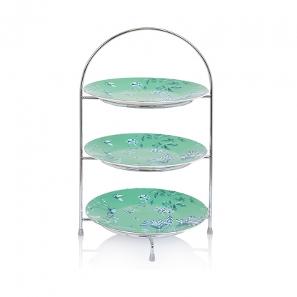 "Afternoon Tea Stand Silver 3 Tier (5"" Plate)"