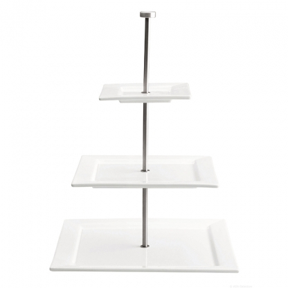 Afternoon Tea Stand White 3 Tier