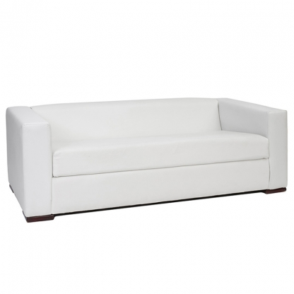 Alaska 3 Seater Sofa White Leather