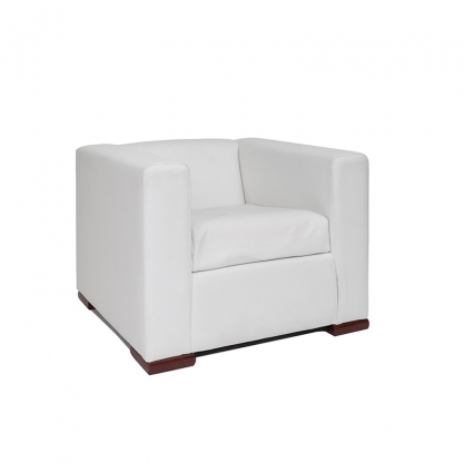 Alaska Armchair White Leather