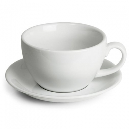 Arctic White Coffee Cup Saucer