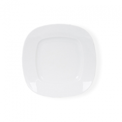 Arctic White Dinner Plate Square Deep 10In