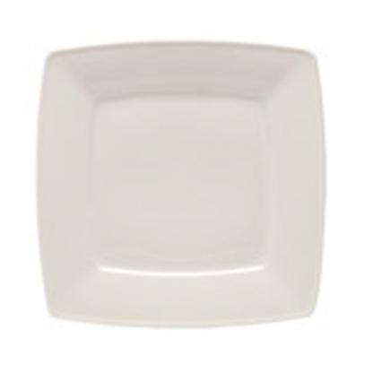 Arctic White Dinner Plate Square Flat 10in