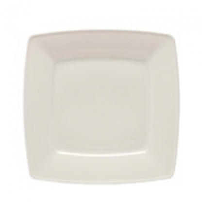 Arctic White Dinner Plate Square Flat 12in