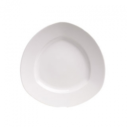 Arctic White Dinner Plate Triangle 10in
