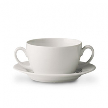 Arctic White Soup Bowl Saucer