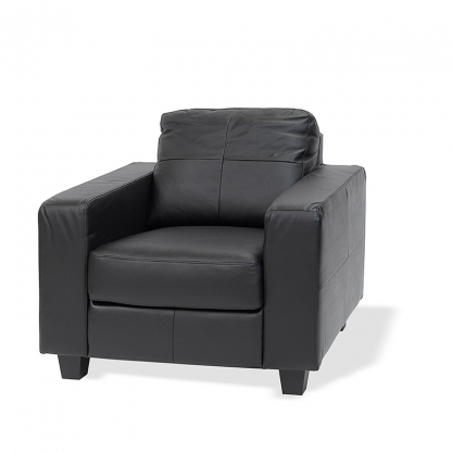 Atlas Armchair Black Leather