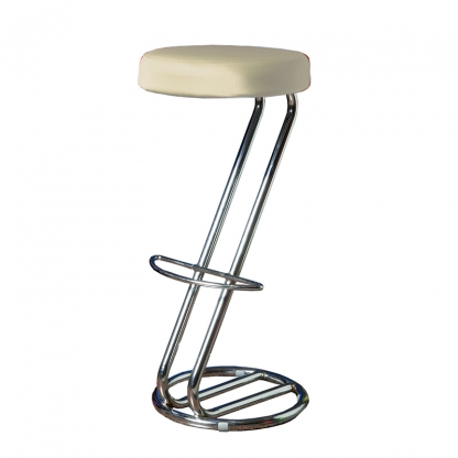 Bar Stool Cover Ivory
