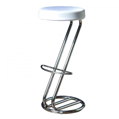 Bar Stool Cover White