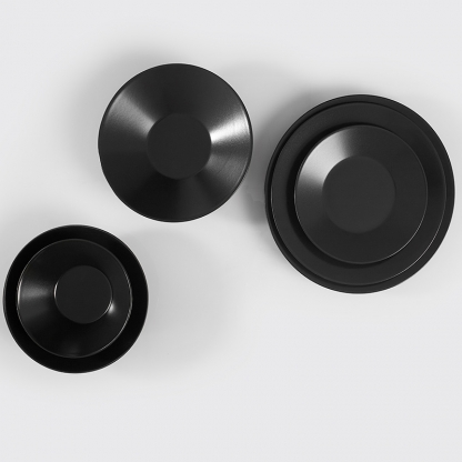 Black Crockery Set