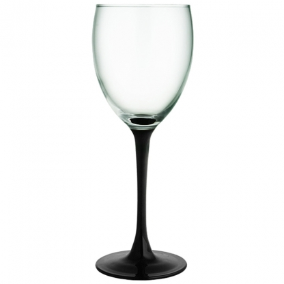 Black Stem Wine Glass 12oz