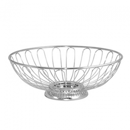 Bread Basket with Base Silver