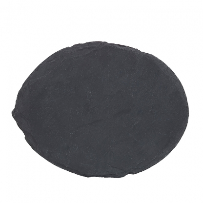 Bufflet Plate Round Black Slate 12in