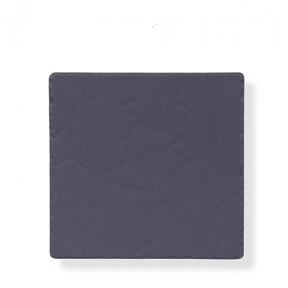 Bufflet Plate Square Black Slate 10in