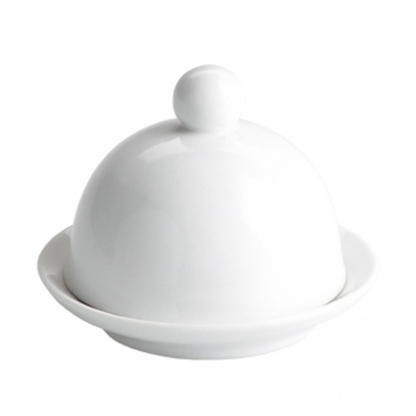 Butter Dish with Cloche White