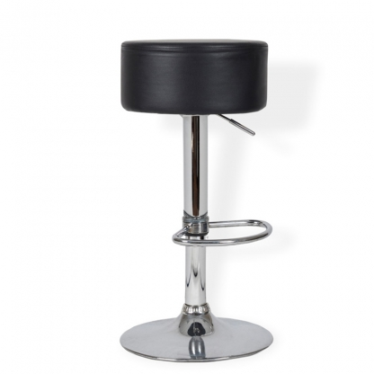Button Bar Stool Black