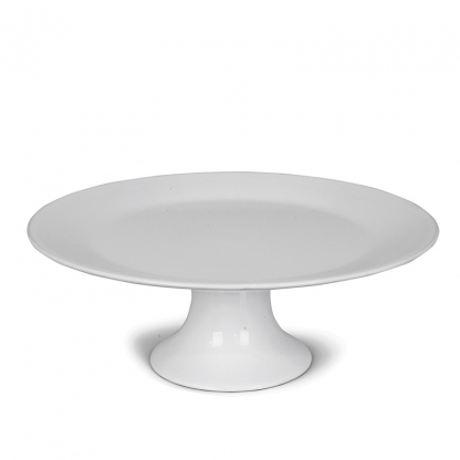 Cake Stand Round White 12in
