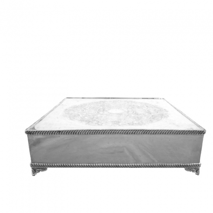 Cake Stand Square Silver 18in