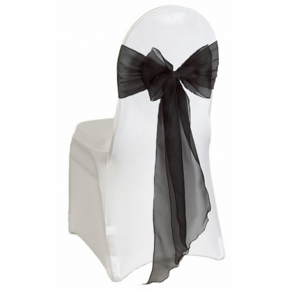 Chair Tie / Table Runner Black Organza