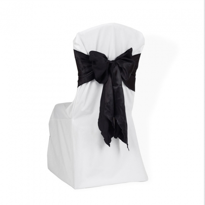 Chair Tie / Table Runner Black Satin