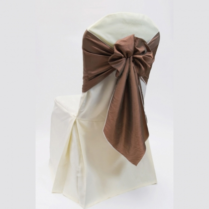 Chair Tie / Table Runner Cappuccino Organza