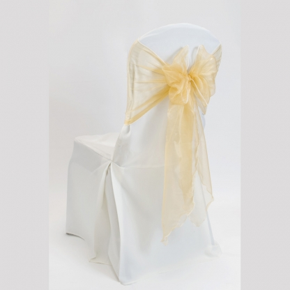 Chair Tie / Table Runner Gold Organza