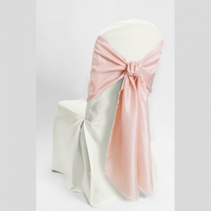 Chair Tie / Table Runner Pale Pink Taffeta