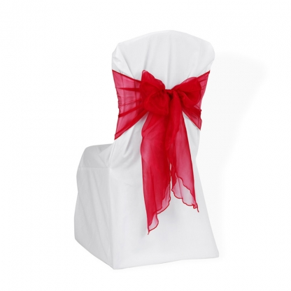 Chair Tie / Table Runner Red Organza