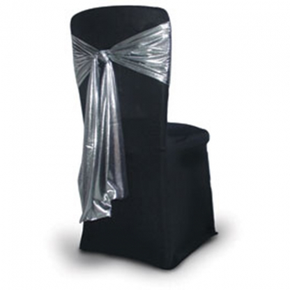 Chair Tie / Table Runner Silver Satin