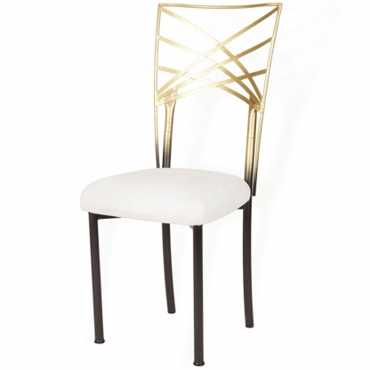 Chameleon Chair Gold with Black Legs