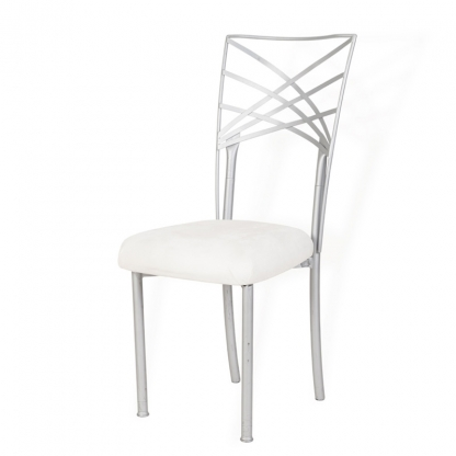 Chameleon Chair Silver Back with Silver Legs
