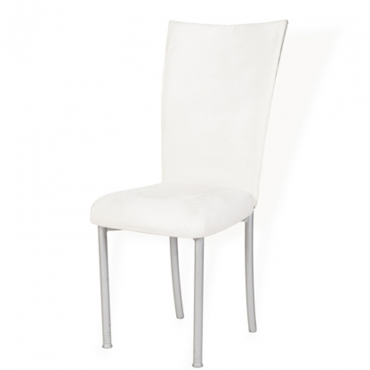 Chameleon White Suede Back Chair