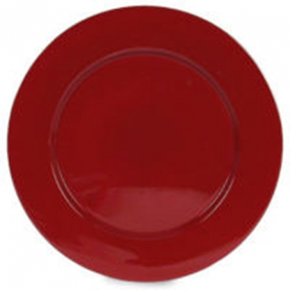 Charger Plate Red 12in
