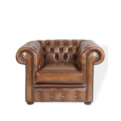 Chesterfield Armchair Tan Leather