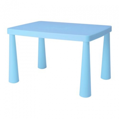 Children's Table Rectangular Blue