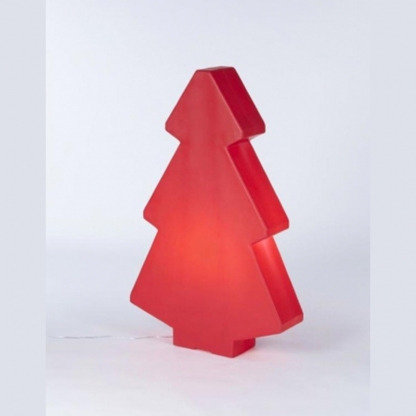 Christmas Tree Illuminated Red 2m
