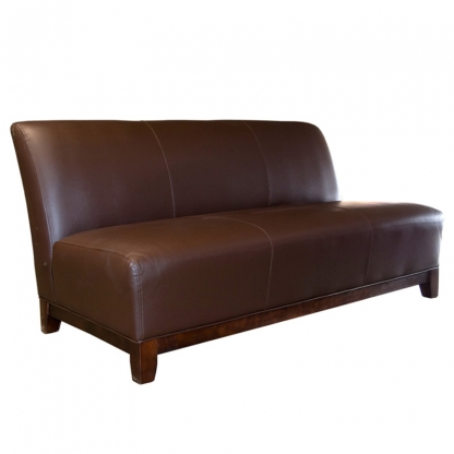 Club 3 Seater Sofa Brown Leather