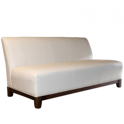 Club 3 Seater Sofa Cream Leather