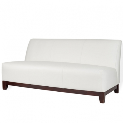 Club 3 Seater Sofa White Leather