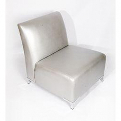 Club Armchair Silver Leather