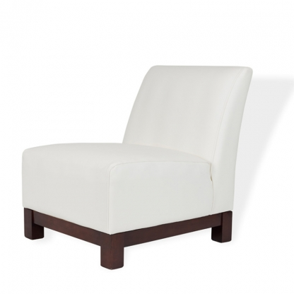 Club Armchair White Leather