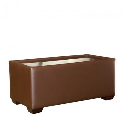 Club Coffee Table Brown Leather