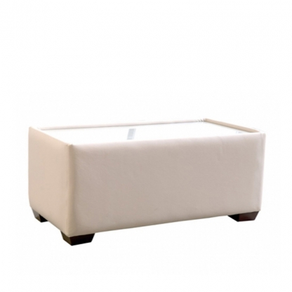 Club Coffee Table Cream Leather