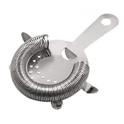 Cocktail Strainer Short Handle 2 Prong Stainless Steel