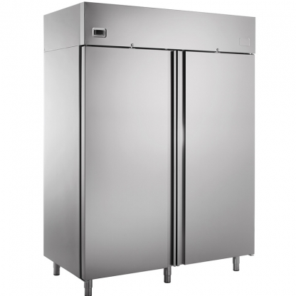 Double Door Freezer Stainless Steel