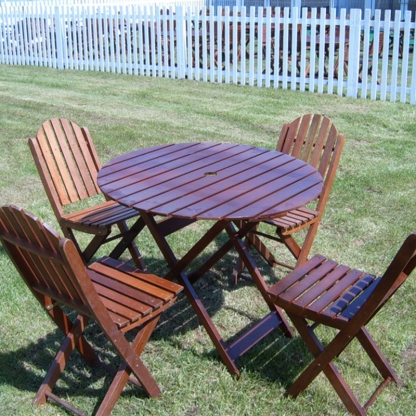 Garden Table and Chairs Set Wooden