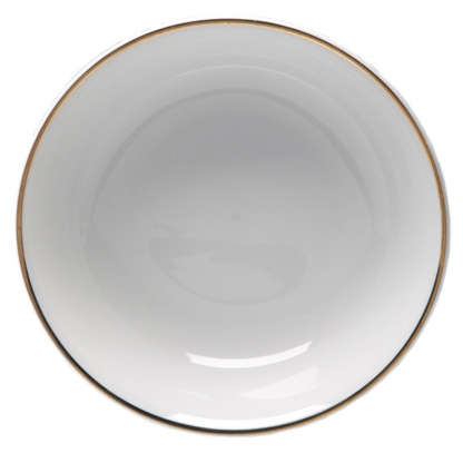 Gold Rim Pasta Bowl 12in