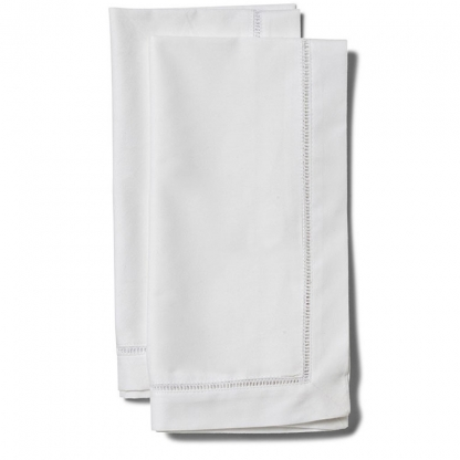 Hemstitched Linen Napkin White 20in x 20in